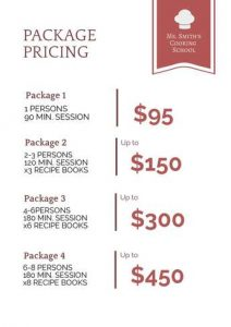 free price list with services design