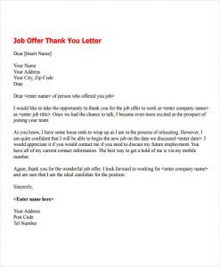 work company thank you for job in a team interview accept sincerely to employer