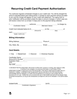 authorization forms with expiration date download
