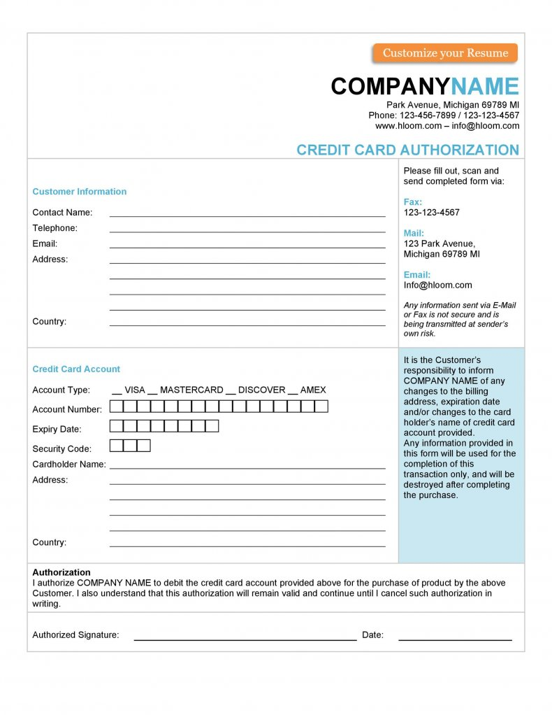 card information rights reserved form templates card type visa mastercard