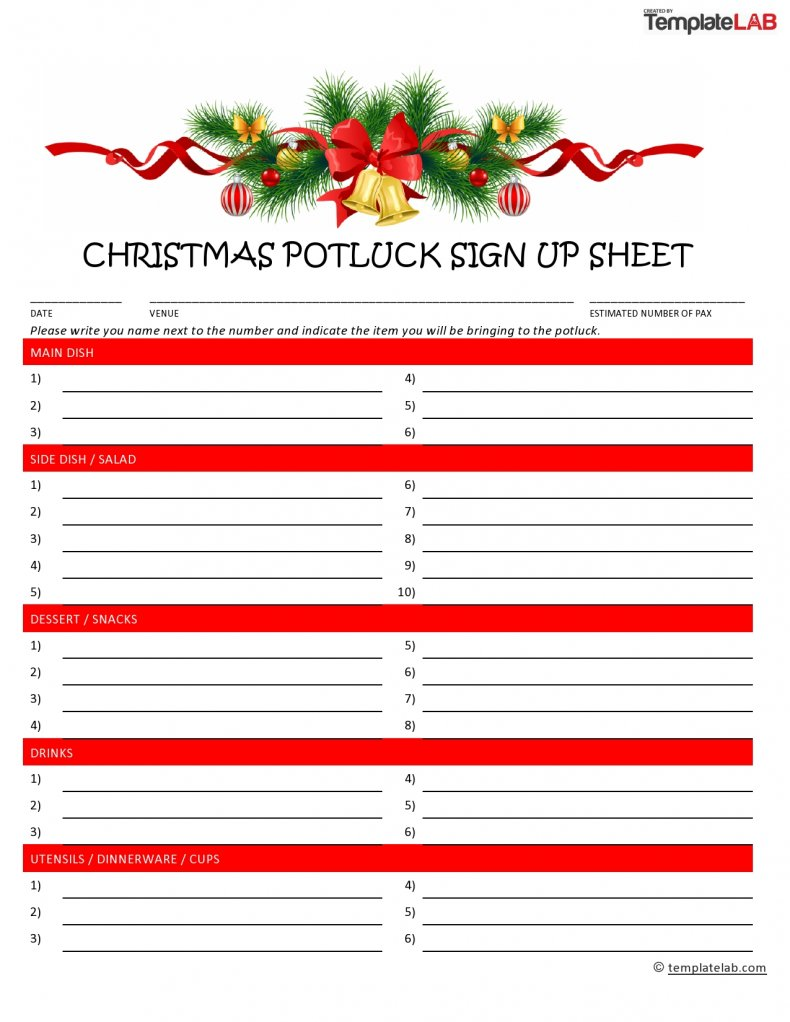13 Sign Up Sheet Template Sign In Sheet Download Word Pdf