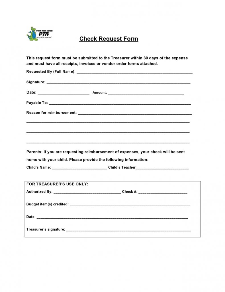 get check request form