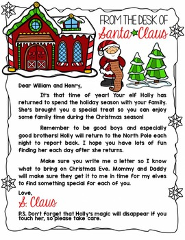 From the desk of Santa Letter