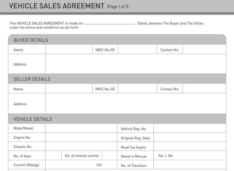 Vehicle Purchase Agreement template
